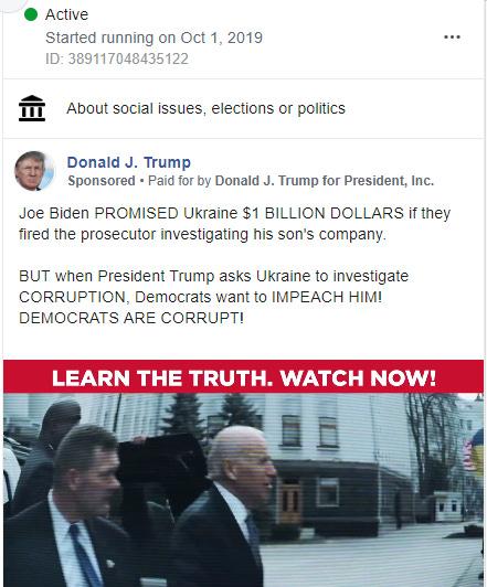 False Biden FB ad