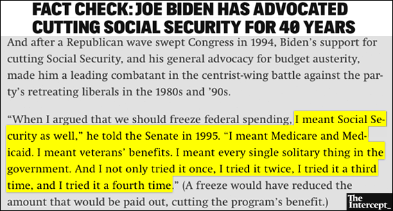 BREAKING: Biden Attacks Bernie On Social Security, Tries To Mislead Iowans About His Record