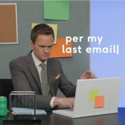 Per My Last E-mail