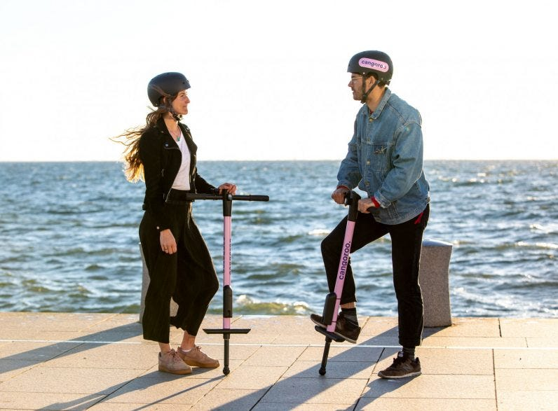 No, pogo-sticks are not the new e-scooters