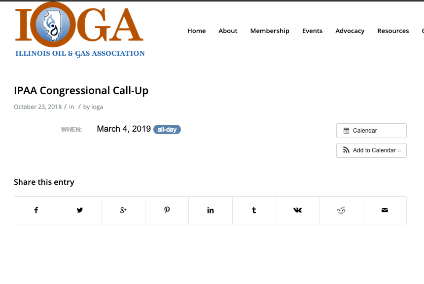 Oil and gas group not returning for lobbying event