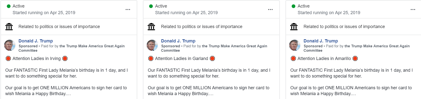 UPDATE: Facebook admits it ran hundreds of Trump campaign ads that