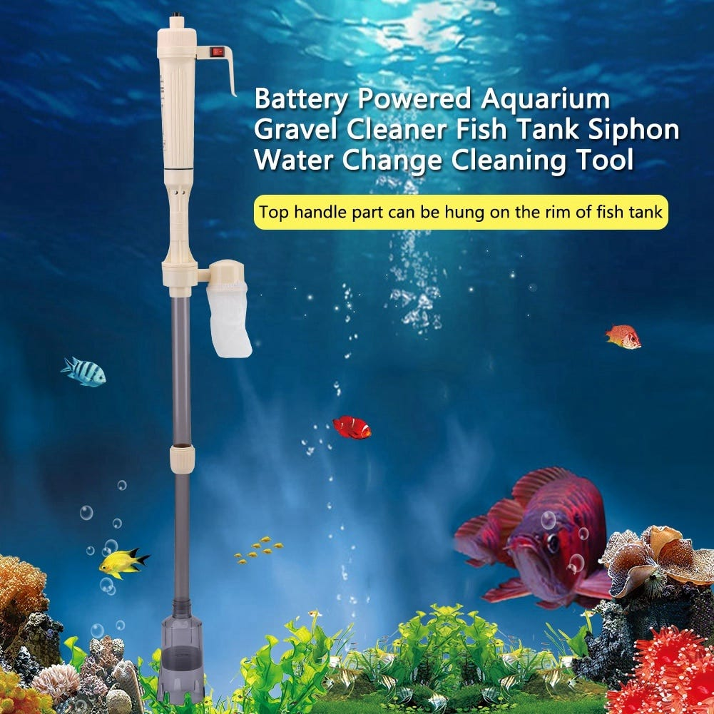 1672346647 Electric Aquarium Water Change Pump Cleaning Tools Water Changer Gravel Cleaner Siphon For Fish Tank Water Filter Pump Home Garden Pet Products