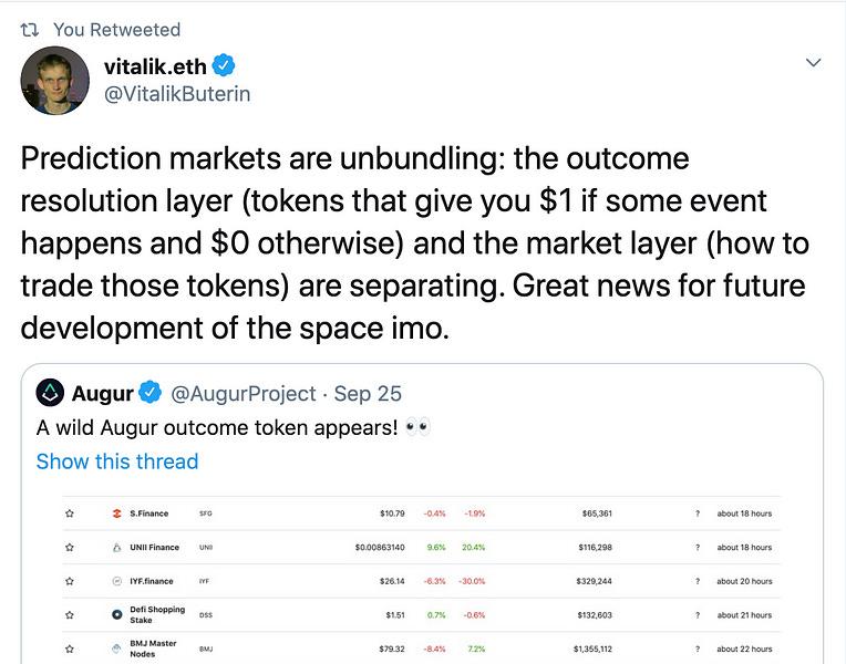 The Unbundling of Augur