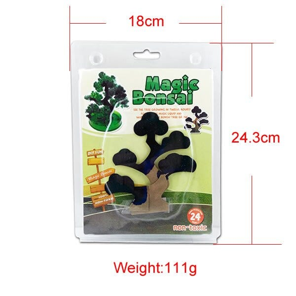 1750927074 140mm H Visual Green Magic Growing Paper Bonsai Tree Kit Artificial Magical Pine Potted Plant Trees Science Kids Christmas Toys Toys Hobbies Novelty Gag Toys
