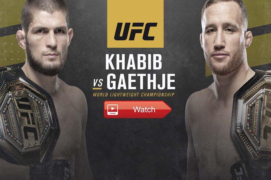 FREE! UFC 254: Khabib vs. Gaethje Live Stream Full Fight ESPN+