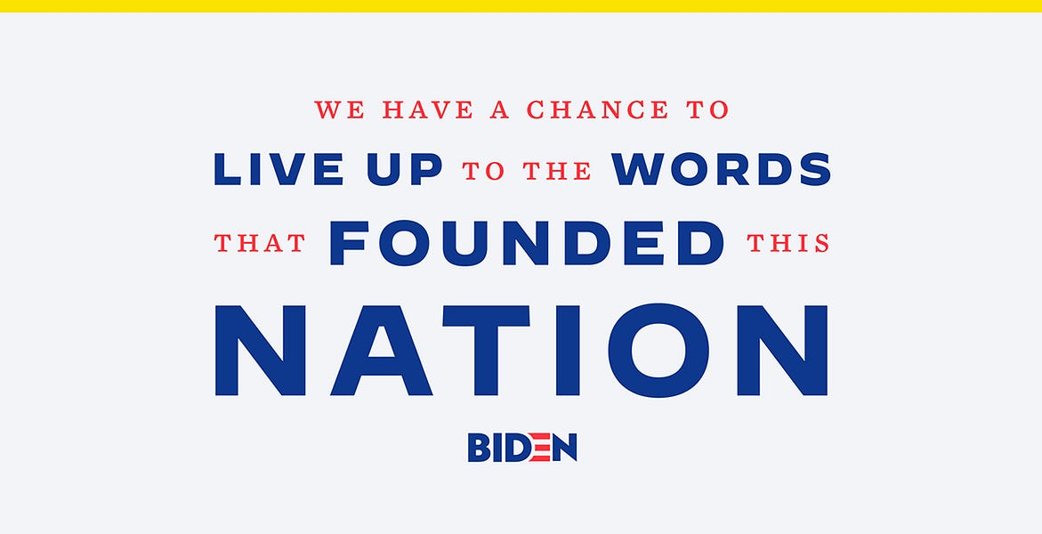 Biden's new campaign typefaces are a pivot to the general election