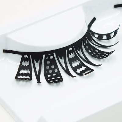 916406341 1 Pair Exaggerated Super Cool False Eyelashes Stage Show Fashion Black Handmade Paper Cut Fake Eyelashes Makeup Extension Tool Beauty Health Makeup