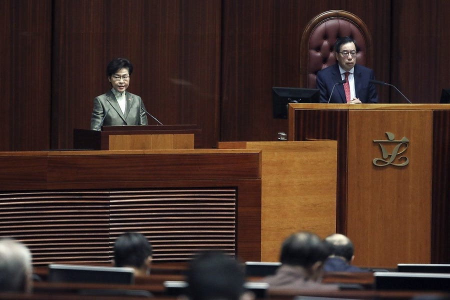 Carrie Lam Rings Down the Curtain on Hong Kong