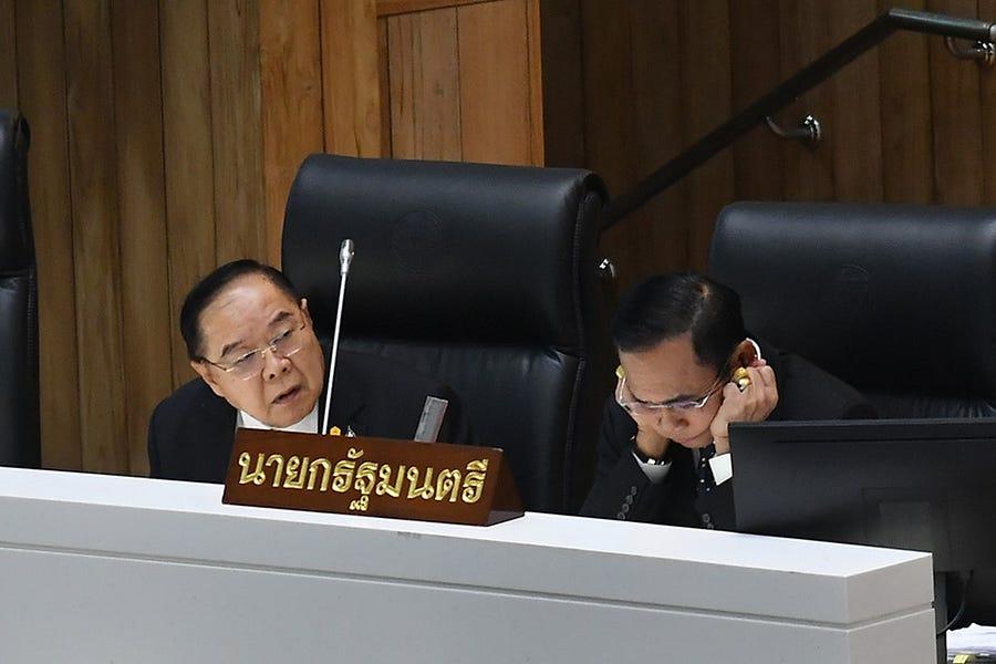 Thai Ruling-Party Fissures Threaten Premier