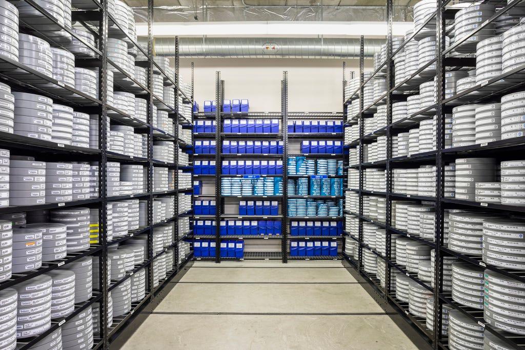 Cold storage at Warner Bros. in Burbank Calif.