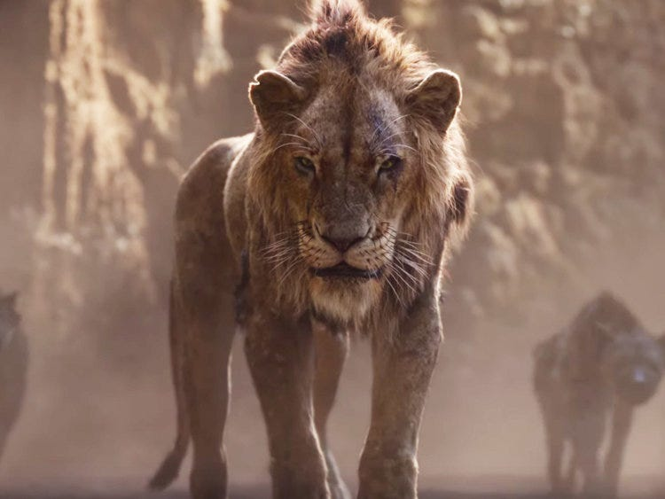 Image result for scar from new lion king