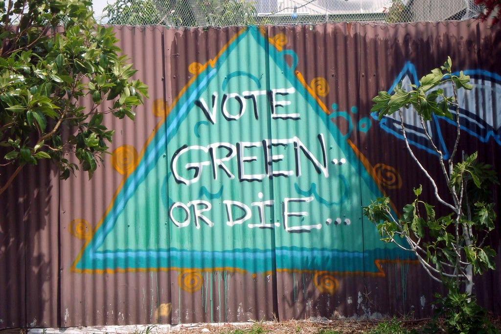 Image result for vote green or die
