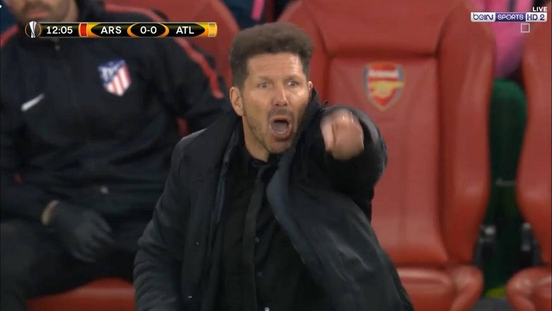 Image result for diego simeone angry
