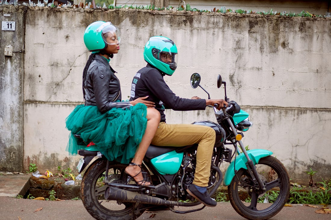 Image result for motorbike taxi africa""