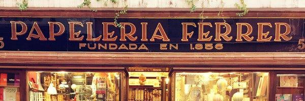 Papelería Ferrer, 1856 (Foto: Ricardo Barquín Molero para Sevilla Tipo)