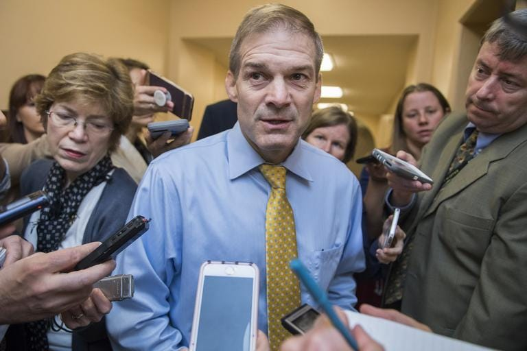 Image result for jim jordan with reporters