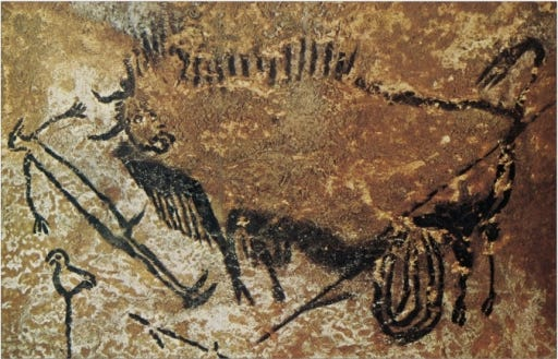 Image result for lascaux cave birdman
