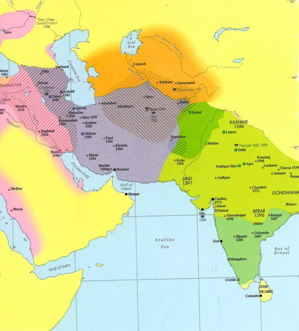 Map - Iran - Safavids & Neighbors