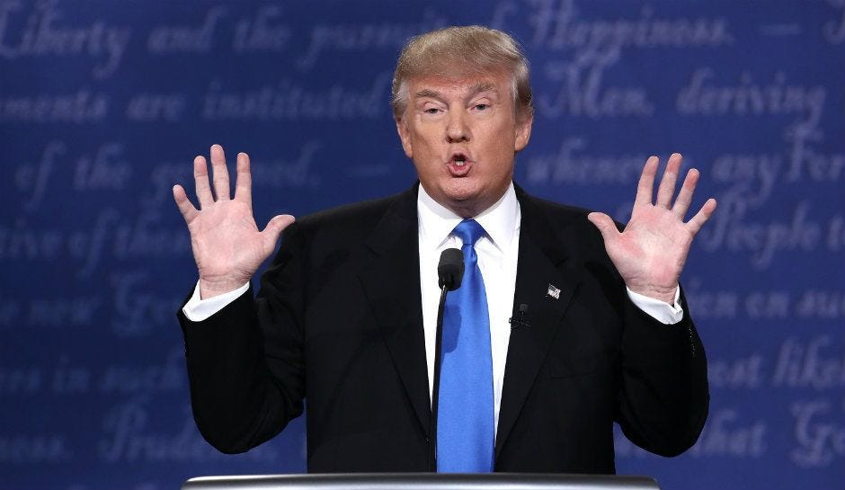 Image result for Trump hands up