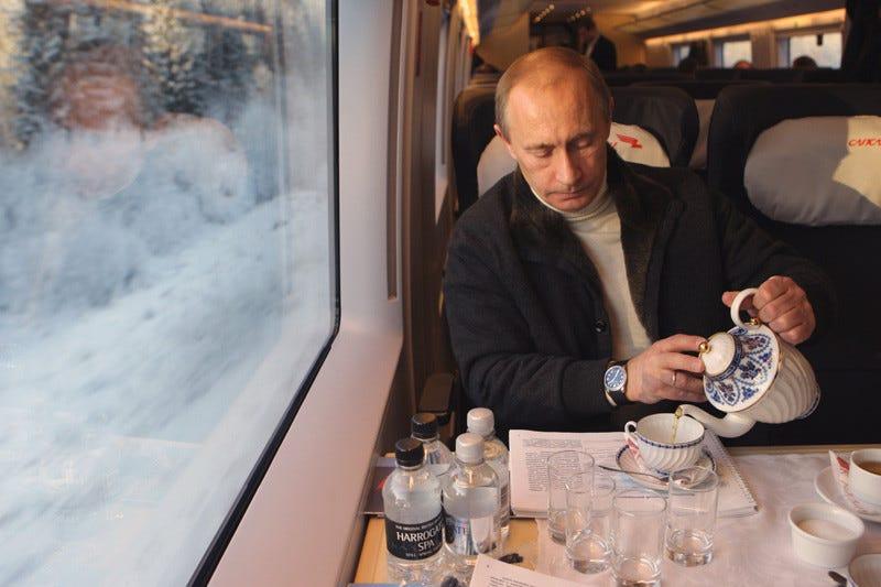 путин в поезде сапсан
