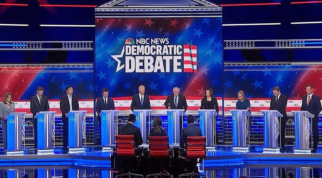 Image result for democratic primary debate part 2