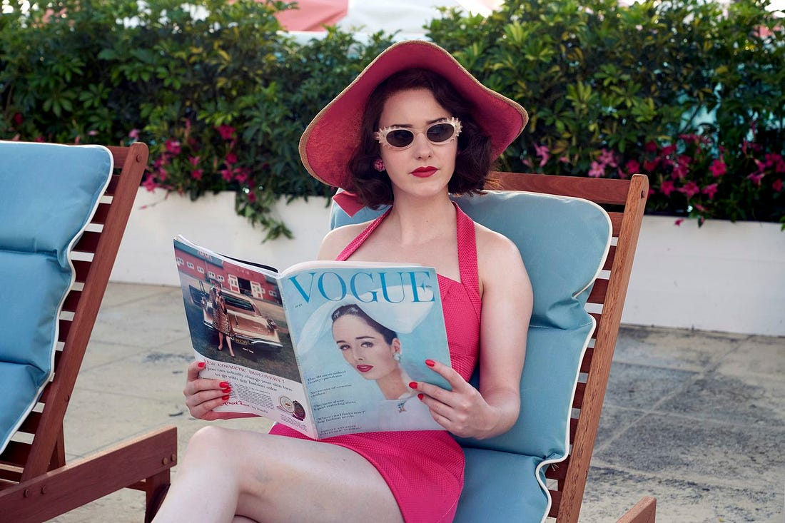 "Rachel Brosnahan as Midge Maisel in ""The Marvelous Mrs. Maisel.""  (Nicole Rivelli/Amazon Studios)"