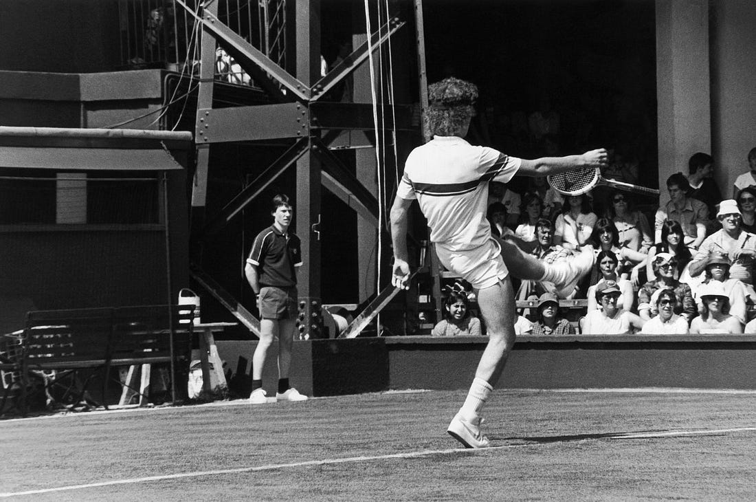 Image result for john mcenroe breaks racket