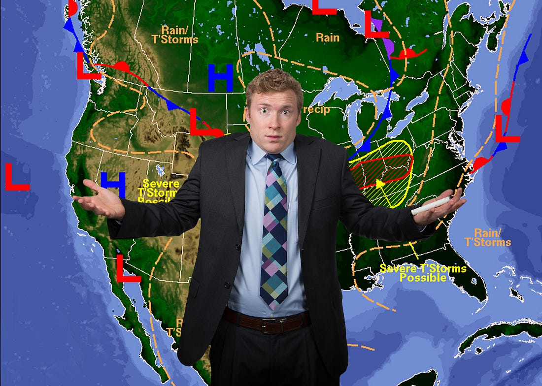 Image result for weather forecaster in storm