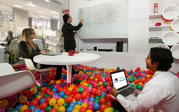 A ridiculous office