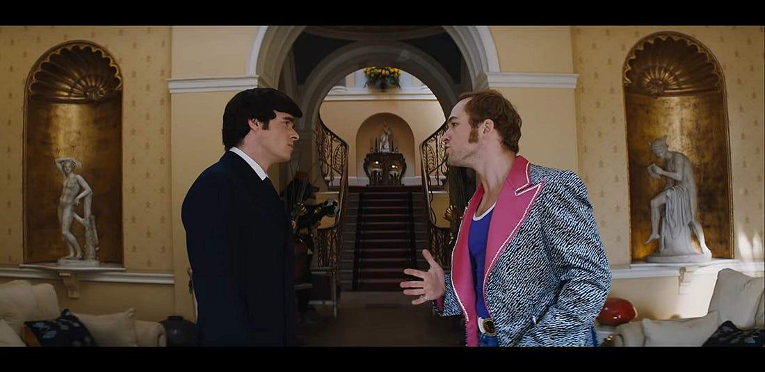 Richard Madden and Taron Egerton in Rocketman (2019)
