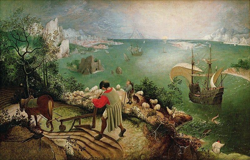 File:Pieter Bruegel de Oude - De val van Icarus.jpg