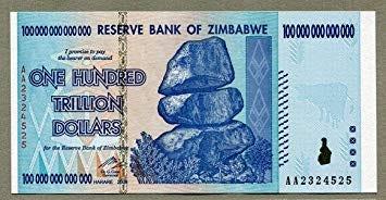 Resultado de imagen de 1 trillion dollars zimbabwe