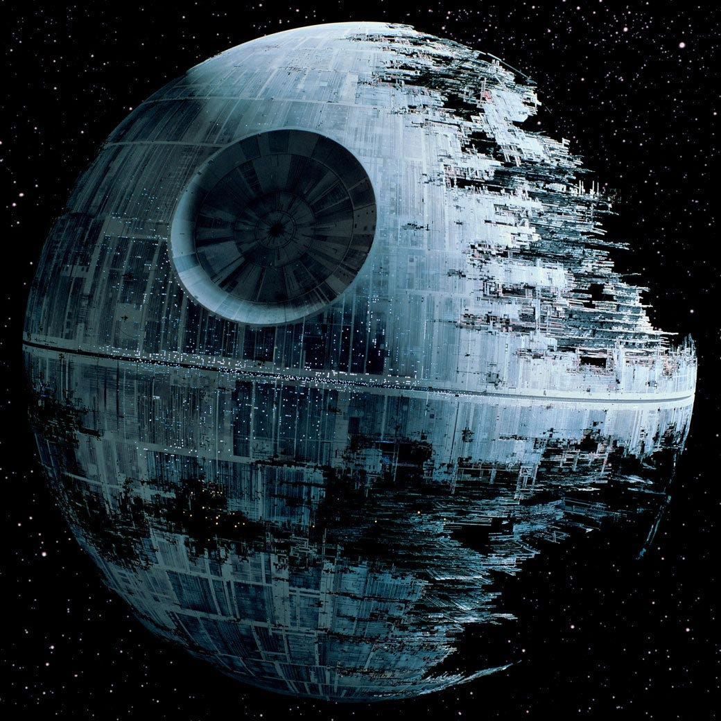 Image result for death star construction