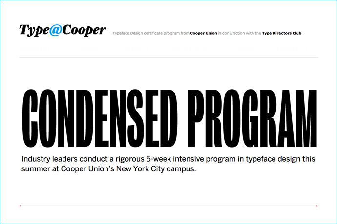 Condensed Program de type@cooper
