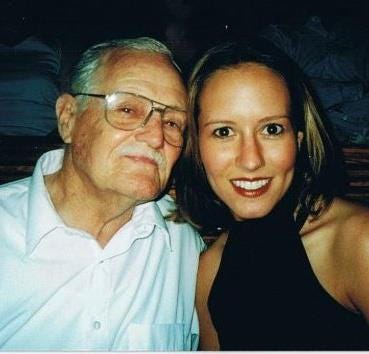 My father and me, May 2001.