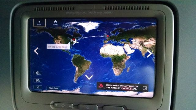 in-flight map