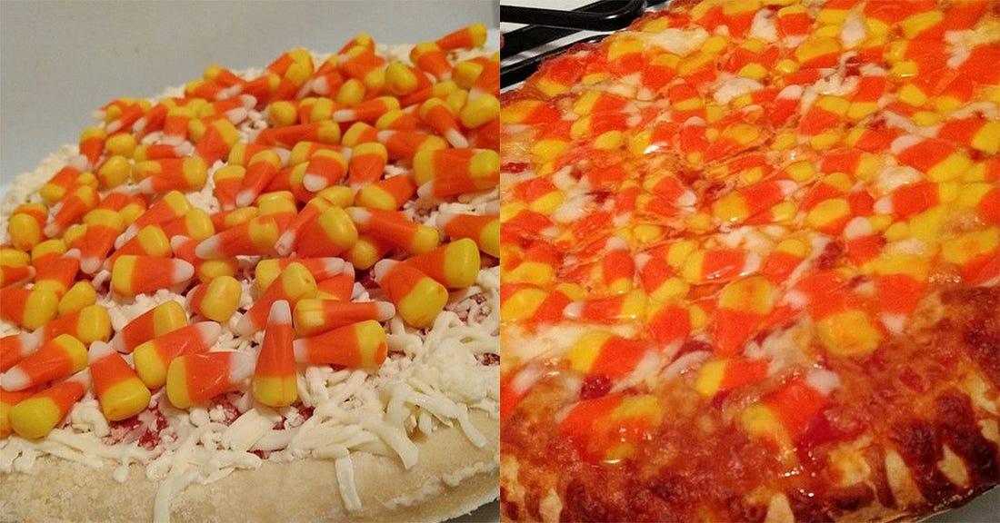 I made that goddamn candy corn pizza