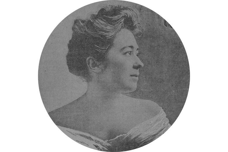 A profile shot of Marie Wilmerding, a Gilded Age socialite.