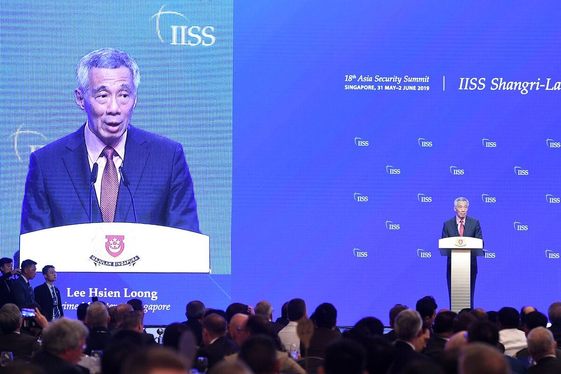 Image result for iiss lee hsien loong
