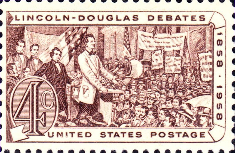 File:Lincoln Douglas Debates 1958 issue-4c.jpg