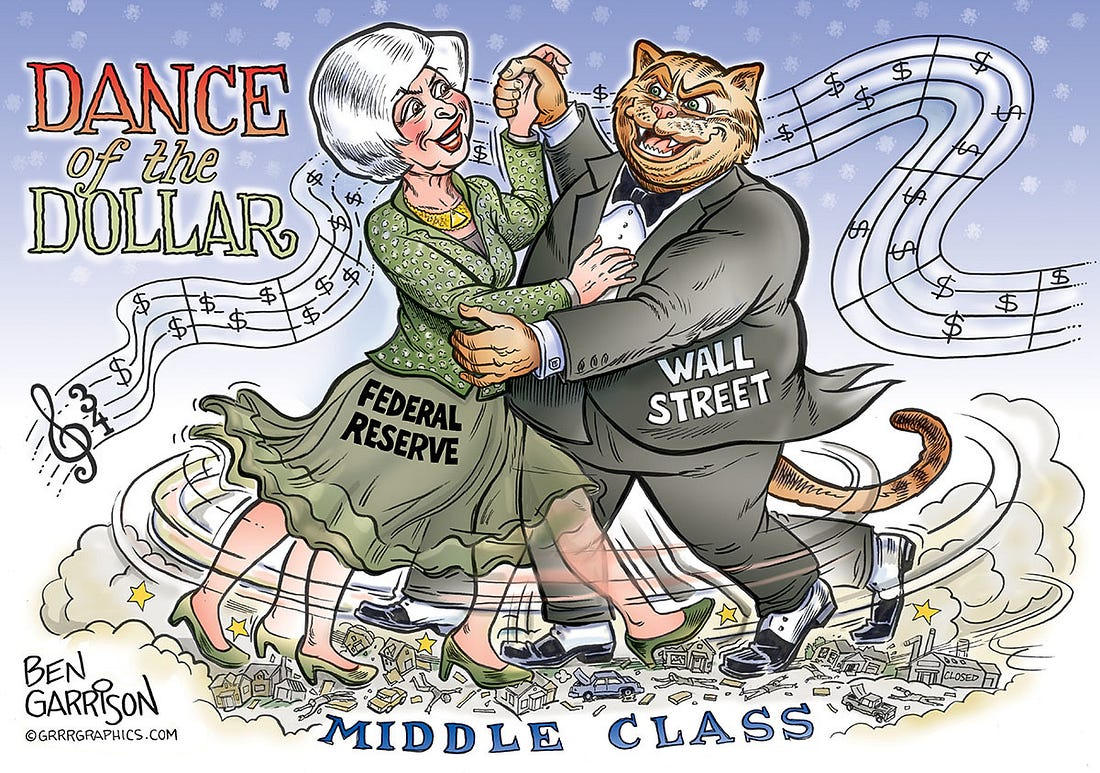Image result for trust bankers and politicians cartoon