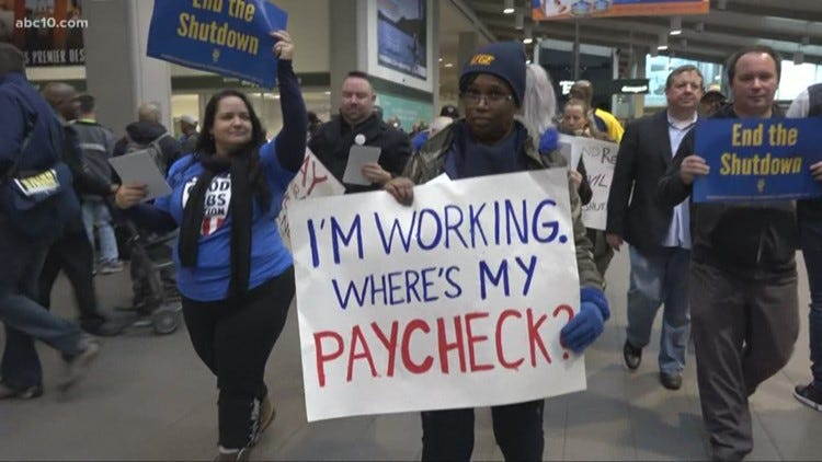 Image result for government workers working without pay