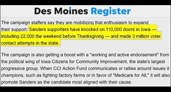 BERN NOTICE: Des Moines Register On Bernie's Iowa Surge
