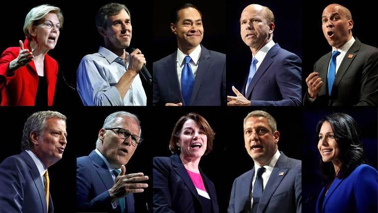 Image result for democratic debate