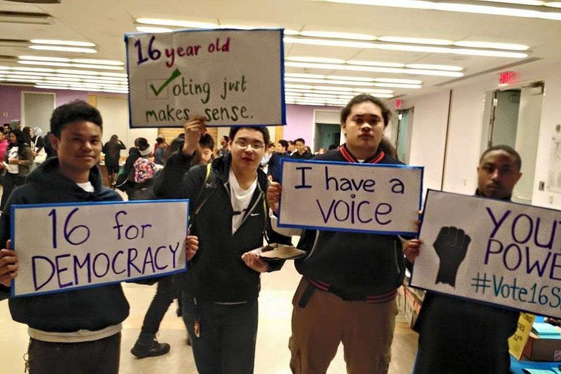 Image result for lower voting age to 16