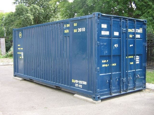 a twenty foot shipping container