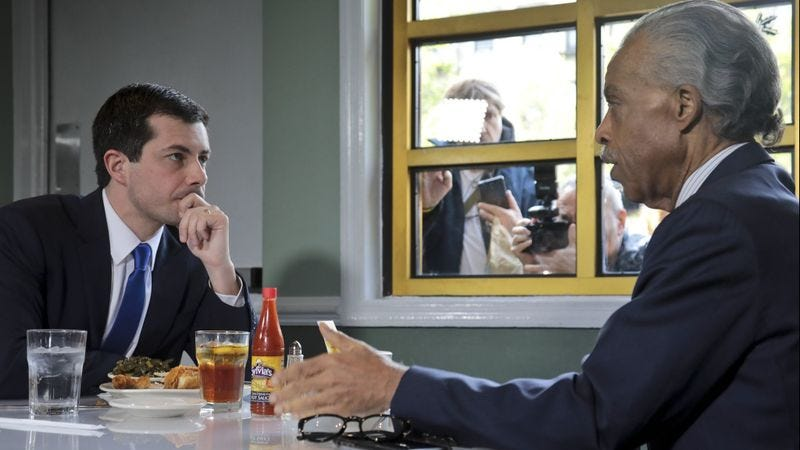 Image result for mayor pete with al sharpton