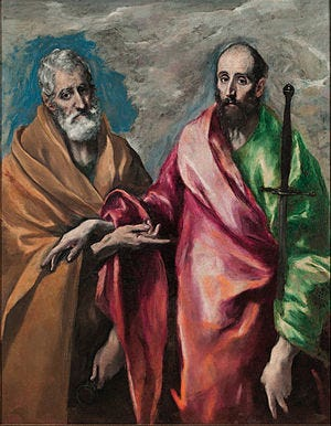 Image result for saints peter and paul art