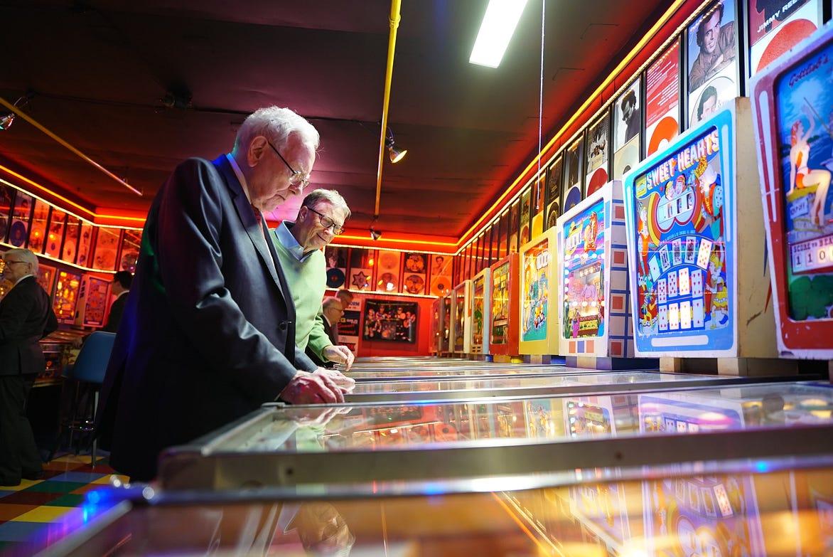 Warren Buffett bought a $25 pinball machine in 1946 and made money
